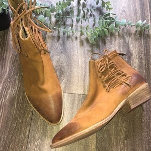 Antelope Brown Tan Lace up Ankle Booties